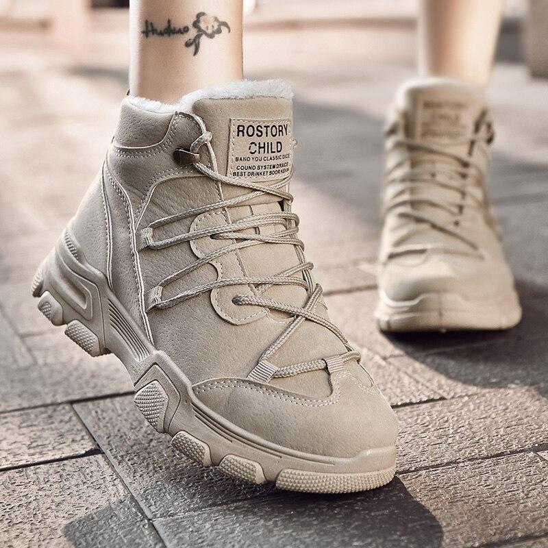OLOMM Winter Popular Hot Sale Women's Casual Shoes Keep Warm Non-slip Women Fashion Sneakers Non-slip Rubber Zapatos De Mujer