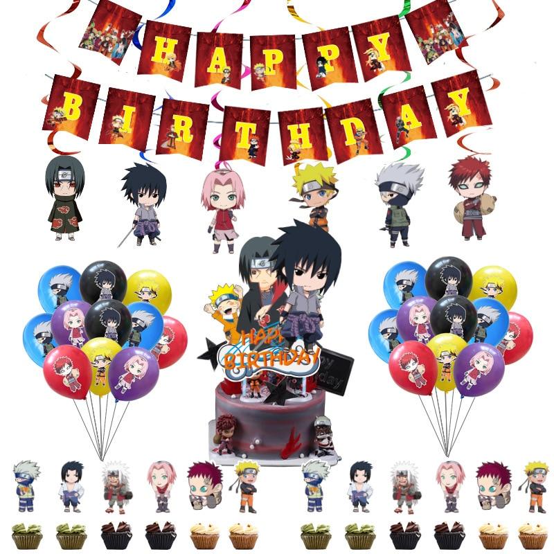 Аниме «Наруто» тема украшения набор воздушных шариков с детское платье для дня рождения вечерние героя аниме «Наруто шар с алюминиевой пле...