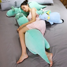 1pc 60-120cm Soft Elephant Dinosaur Crocodile Pillow Plush Toy Cartoon Animal Doll with Blanket Bed Cushion Rest Pillow Kid Gift все цены