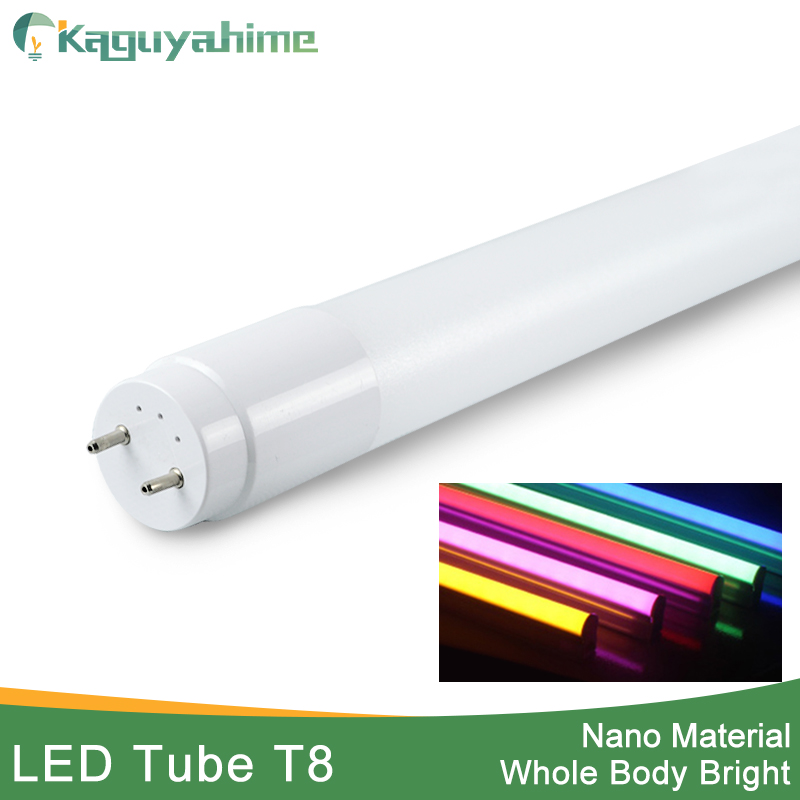 Kaguyahime RGB 360 Degrees Bright LED Tube T8 Light 220v 60cm 600mm 10w LED T8 Integrated Driver Fluorescent Lamp Bulb T8 White