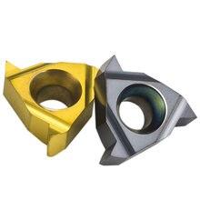 Piezas de acero de inserción roscado de carburo, herramienta de torno de hilo, Hoja para SER Bar CNC, 11ER A60 A55, 10 Uds.
