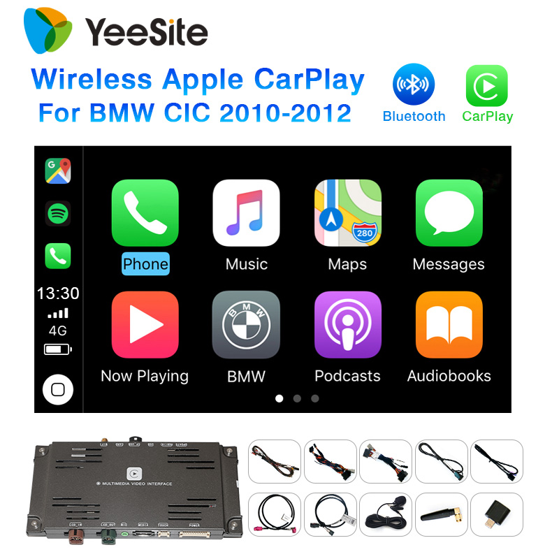 Yeesite WIFI Wireless Apple Carplay for BMW CIC 2010-2012 Android Auto Car Play Surpport Rear View CAM 2019 Free Shipping image