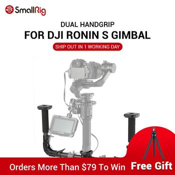 SmallRig DSLR Camera Shooting Dual Handgrip for DJI Ronin S/Zhiyun Crane Series Handheld Gimbal Light Weight 2210 handheld gimbal adapter switch mount plate for gopro 6 5 4 3 3 yi 4k camera for dji osmo for feiyu zhiyun smooth q gimbal