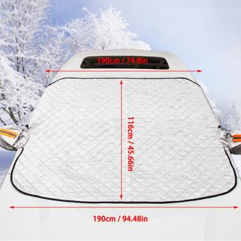 240*190cm Magnetic Car Windshield Snow Cover Tarp Winter Ice Scraper Frost Dust Guard Sunshade Protector Protector Heat Sun Mat 4