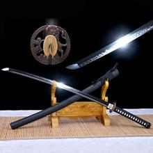 Katana Tang T10 hecha a mano, tratamiento de arcilla de acero Real, espada samurái lista dla cortar bambú, recién llegado