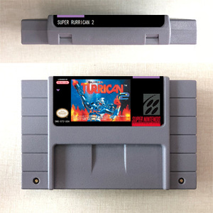 Image 2 - Super Turrican or Super Turrican 2   Action Game Card US Version English Language