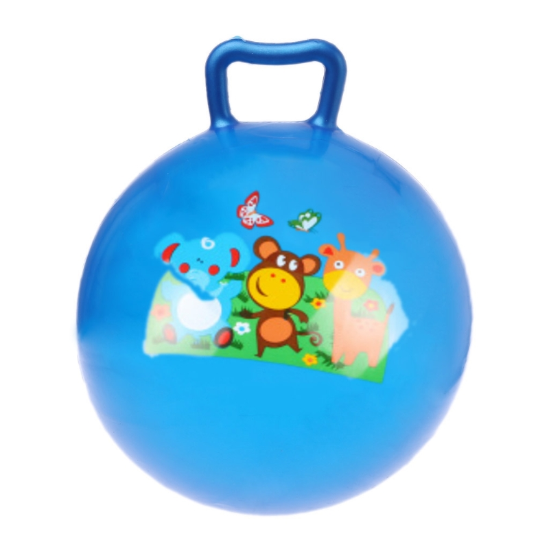 New 11in Inflatable Jump Ball Hopper Bounce Retro Ball Kids Baby Toy Balls  Q6PD