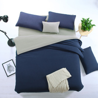 4pcs/set Beding Set soild Double color matching sanding fabric Twin Queen king size bed cover for Home/hotel Beautiful bedding