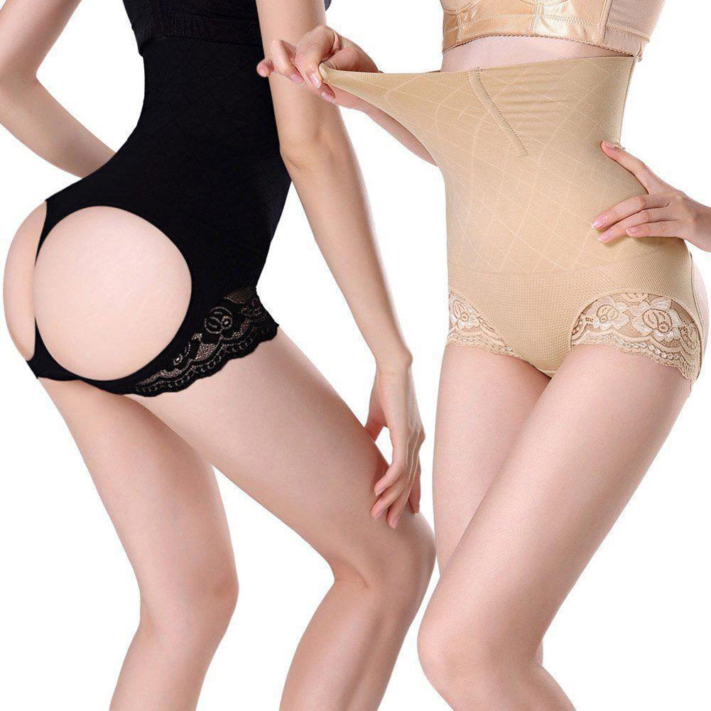 Elastic Women High Waist Butt Lift Body Shaper Panty Underwear Seamless Cincher