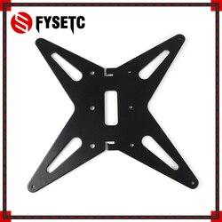Siyah yükseltme CR-10 CR-10S Hotbed destek Y arabası anodize alüminyum levha için 4mm kalınlığında 300X300X400 creality CR10 BLV