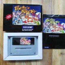 16Bit Games ** Pocky & Rocky 1 ( PAL Version!! Box+Manual+Cartridge!! )