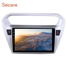 Seicane 9 pulgadas coche DVD reproductor Multimedia Android 8,1 para Citroen Elysee Peguot 301 013 2014 2015 GPS Wifi TPMS DVR USB(China)