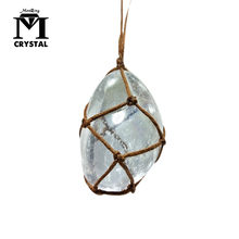 natural clear Necklaces Crystal Pendants white Gem Stone Quartz Reiki Healing Irregular White Quartz Pendulum Jewelry gift(China)
