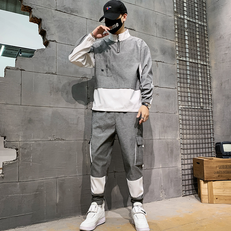 2020 New Harajuku Hip Hop Hoodies Sweatshirts Men Pullover 2 PCS Hoodies And Pants Mens Streetwear Tracksuit
