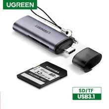 UGREEN-lector de tarjetas USB C, microSD, SD, lector de tarjetas TF para ordenador portátil, accesorios de tarjetas de memoria para teléfono, ordenador, lector de tarjetas SD