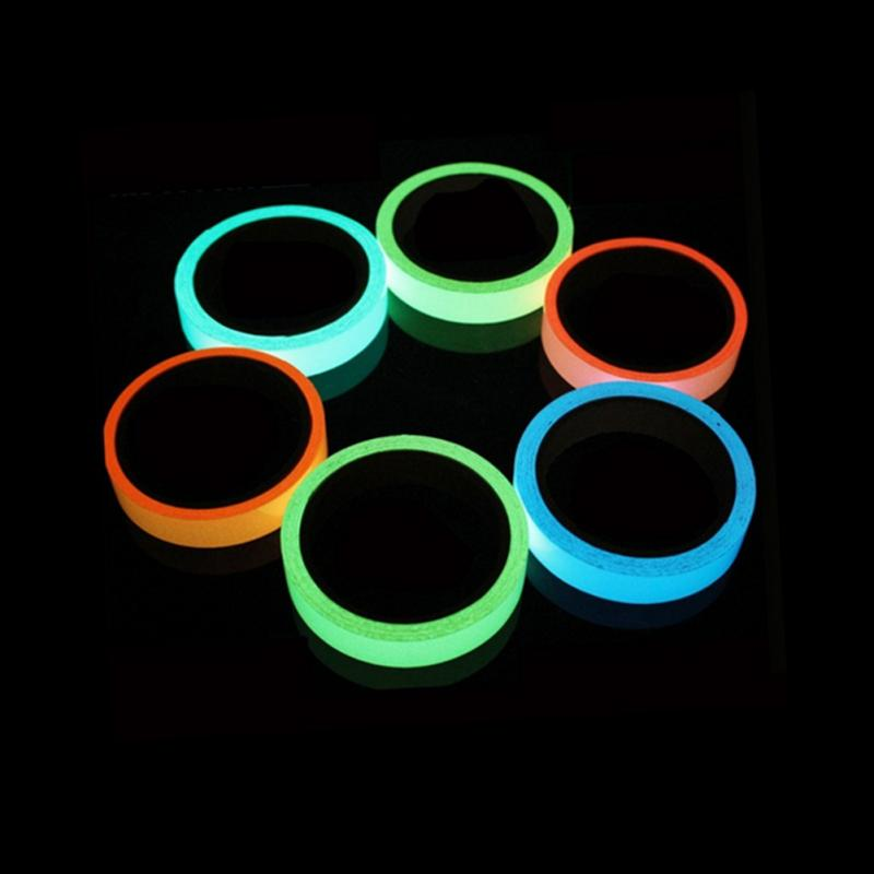 Tapes Ribbon Luminous Tape Glow Warning Tape Sticker In Dark Neon Safety Fluorescent Self Adhesive Security Stage Safety Light