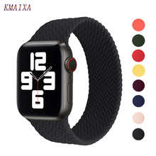 Silicone Strap For Apple watch 6 band 44mm 40mm belt bracelet Braided Solo Loop iWatch serie se 5 4 3 Apple watch band 38mm 42mm