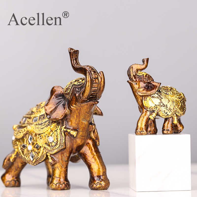 Keberuntungan Feng Shui Kayu Gajah Patung Patung Kekayaan Patung Hadiah Ukiran Batu Alam Desktop Rumah Dekorasi
