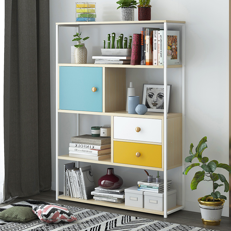 Wholesale Simplicity Storage Shelf Multi-functional Floor-type Simple Wrought Iron Rack Students Home Living Room Province Space