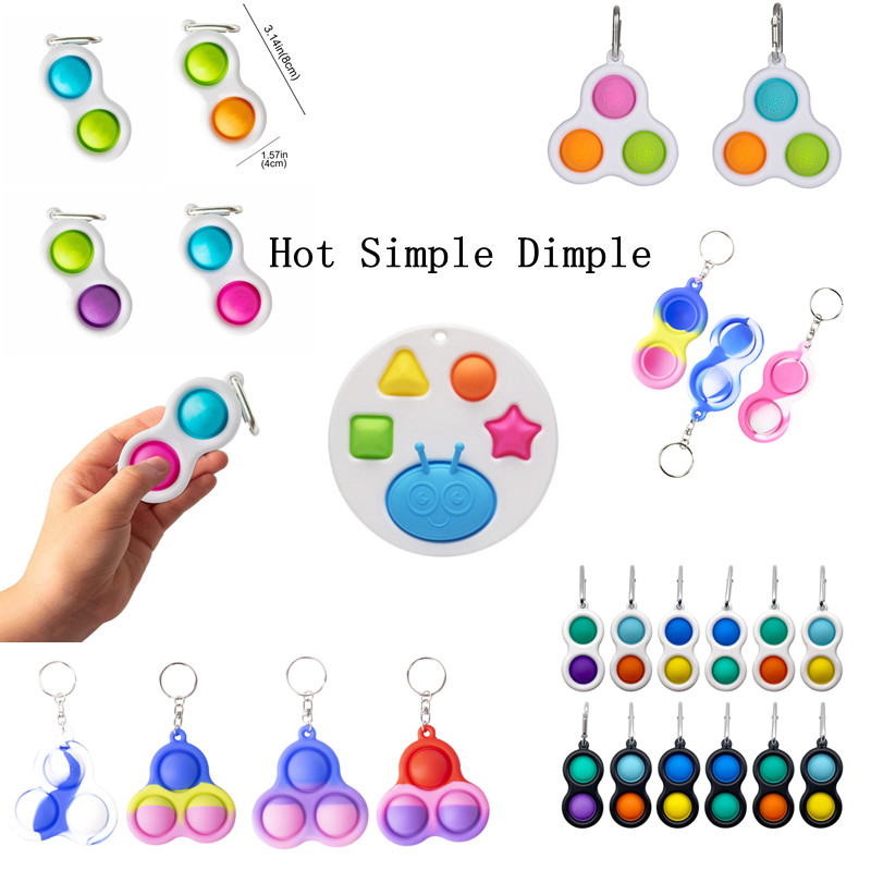 Fidget-Toy Simpel Dimpel Anxiety Children Reliever-Board-Controller Stress Adult