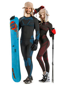 Thermal-Underwear-Set Stretch Naturehike Polyester Skiing Anti-Microbial Winter Thick