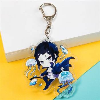 Wenhao Wild Dog Taizai Keychains Governance Island, Central Central Also Key Chain Pendant Acrylic Animation Surrounding Keyring image