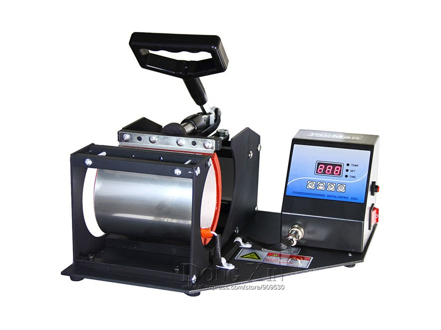 Free shipping 1in1 heat transfer press machine for Cup Mug printing sublimation machine multifuntional Heat Press Machine DX-021