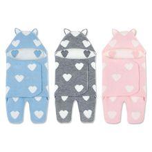 Cartoon Baby Kids Wrap Blanket Newborn Boys Girls Swaddle Split-leg Sleeping Bag