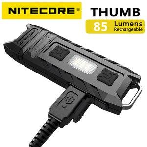 Image 2 - 100% מקורי במפעל מחיר Nitecore אגודל 120 מעלות Tiltable USB נטענת Worklight