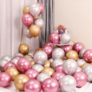 Image 5 - 10pcs Metal Pearl Latex Balloons Birthday Party Decoration Kids Wedding Baby Shower DIY Bachelorette Table Supplies Boy Girl