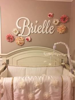 Personalized Wooden Name Sign Large size Letters Baby Name Plaque PAINTED nursery name nursery decor  wall art 1