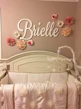 Spersonalizowane drewniane nazwa znak duże rozmiary litery imię dziecka tablica malowane nazwa przedszkola wystrój żłobka wall art