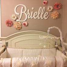 Name-Sign Nursery-Decor Letters Wooden Wall-Art Baby-Name Plaque Personalized PAINTED