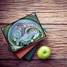Сделай Сам Алмазная вышивка тетрадь особой формы алмазная живопись мультфильм Дневник A5 50 страниц мозаичные картинки блокнот 1Bjb08