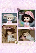 Tête de poupée Sto oeuf endormi et mannequin, personnalisation de la tête de poupée, prévente, OB11