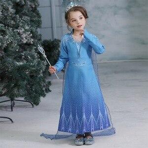 Платье для девочек с изображением Эльзы и Анны, платье для девочек-подростков на Рождество, день рождения, вечеринку, платье
