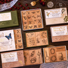Le Petit Prince series decoration stamp butterfly Grass wooden rubber stamps for scrapbooking stationery DIY craft standard seal