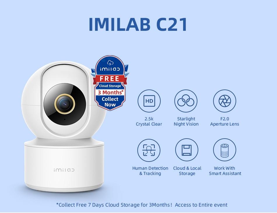 IMILAB Smart Camera 2.5K C21 WiFi Security Surveillance Baby Monitor IMILAB Home APP Starlight Night Vision
