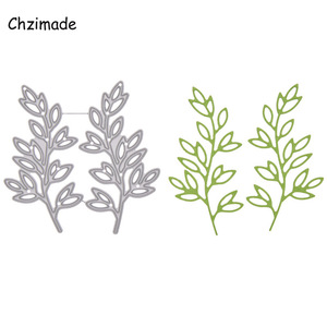 Chzimade Metal Leaf Branch Cutting Dies Stencils For Scrapbooking Paper Card Making 2020 Embossing Knife Template Diy Crafts