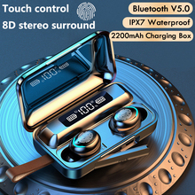 سماعات بلوتوث 5.0 F9 5 TWS سماعات لاسلكية 8D باس ستيريو في الأذن سماعات يدوي سماعة مع ميكروفون شحن
