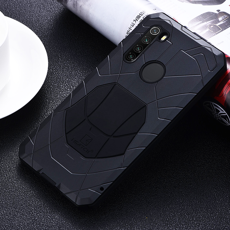 IMATCH Aluminum Metal Silicone Shockproof Case Cover For Xiaomi Redmi Note 8 / Note 8 Pro Dirt Shock Proof Cover CaseFitted Cases   -