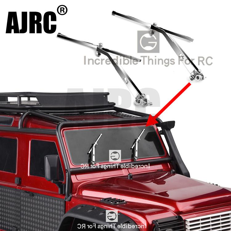 1 Pair Silver Metal Windshield Wiper For 1/10 RC Tracked Vehicle Traxxas TRX4 TRX-4 Defender Wiper