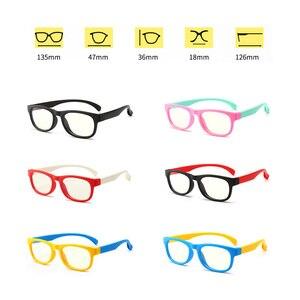 Image 5 - 2020 blau Licht Gläser Kinder Mode Junge Mädchen Blocking Computer Klar Transparent Brillen Optische TR90 Rahmen UV400