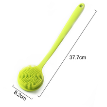 Щетинки для тела, Экологичная силиконовая портативная душевая мягкая Массажная Ванна с длинной ручкой, скруббер с ручкой