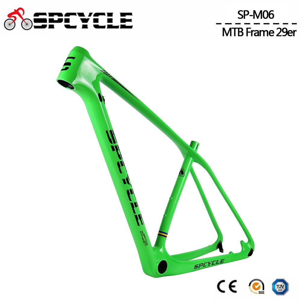 Spcycle Carbon MTB Frame 29er Mountain Bike Frame 27.5er Carbon MTB Bicycle Frame Compatible 142*12mm Thru AXle And 135*9mm QR