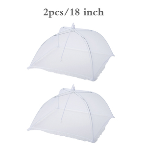 White Square Folding Removable Washable Mesh Table Cover Picnic Cover Tent Fruit Hood Fly Protection BBQ Parties Buffets Hood