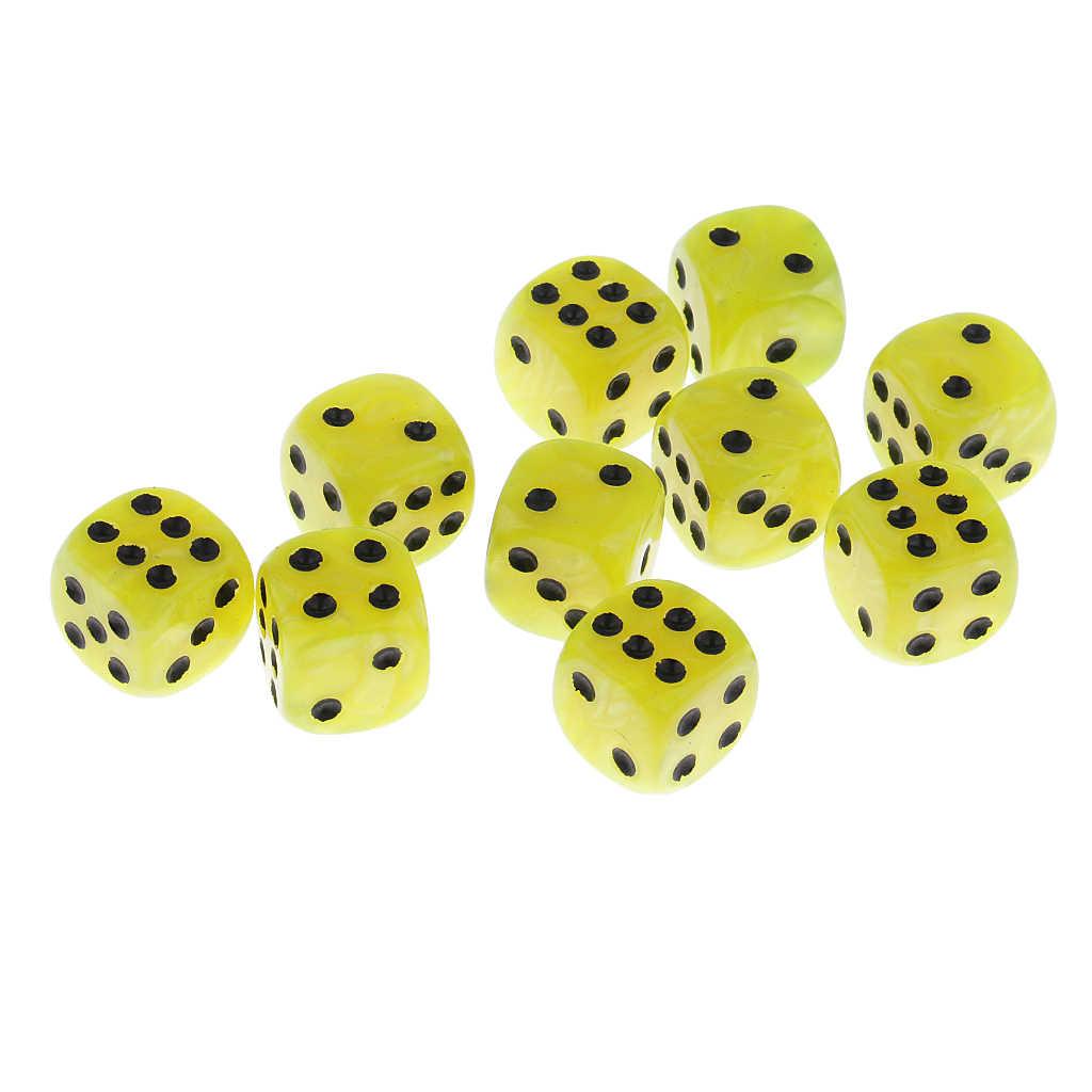 10 stuks Plastic 6-zijdig Digitale Dobbelstenen D6 voor Party Bar Tafel Spel Accessoire D & D MTG RPG gaming Levert