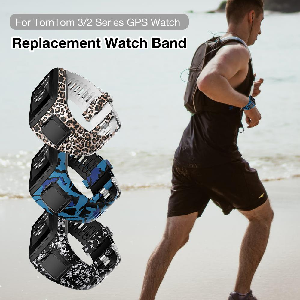 New Printed Replacement Watchband Wrist Band Strap For Tom 2 3 Series Runner Spark Golfer Adventurer GPS Watch