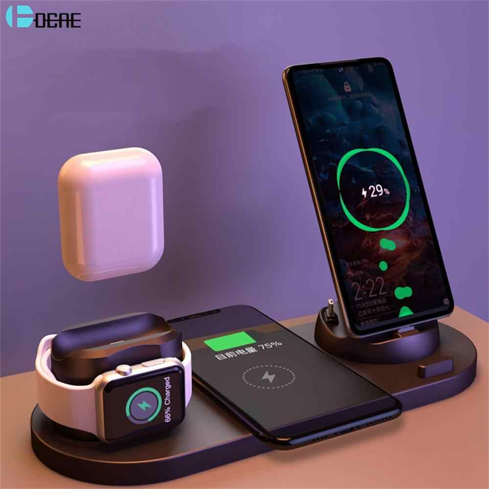US Wireless Charger Fast Charging Dock For Apple iPhone 11 Pro Android Clock
