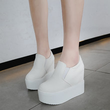 2020 Spring New Designer 10CM Wedges White Shoes Female Platform Sneakers Women Tenis Feminino Casual Female Shoes Woman Y85(China)
